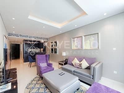 شقة فندقية 2 غرفة نوم للايجار في وسط مدينة دبي، دبي - Partial View of Burj Khalifa | Fully Furnished