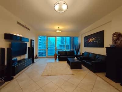 3 Bedroom Apartment for Rent in Dubai Marina, Dubai - 3-Bedroom Fully Furnished apartment Dubai Marina .