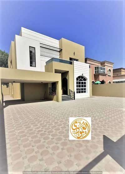 5 Bedroom Villa for Sale in Al Mowaihat, Ajman - For urgent sale, a luxurious villa from the owner, with a wonderful and unique design, with a suitable area, close to the mosque, and all services at a very attractive price, with full bank financing arrangements.