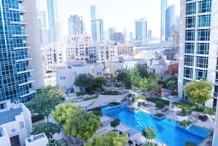 شقة 1 غرفة نوم للايجار في وسط مدينة دبي، دبي - Pool View | Amazing 1BR+Balcony in The Residences Downtown