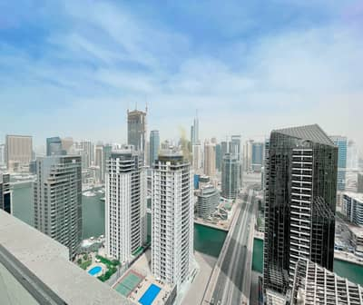 3 Bedroom Flat for Sale in Jumeirah Beach Residence (JBR), Dubai - Marina/Partial Sea Views | Fully Furnished | 3 Bedrooms