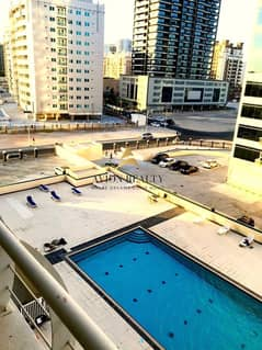 Pool Facing 1Br with 2 Balconies | Highly Maintained - Sports city