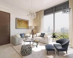Apartment for sale with a view of Burj Khalifa and Dubai Creek in installments