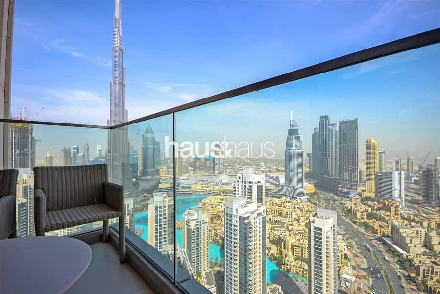 2 High Floor| 3 Beds + Maids| Burj and Fountain view