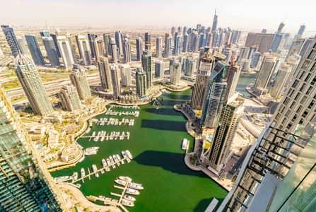 2 Bedroom Flat for Rent in Dubai Marina, Dubai - Full Marina View | 2 Bedrooms Fendi Furnished High Floor
