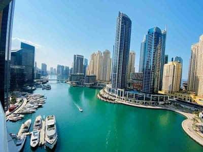 شقة 2 غرفة نوم للايجار في دبي مارينا، دبي - شقة في برج الأطلنطي دبي مارينا 2 غرف 114499 درهم - 5143236