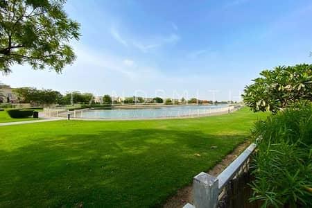 فیلا 2 غرفة نوم للايجار في الينابيع، دبي - Lake View 2BR plus Study Type 4E with a Big Garden