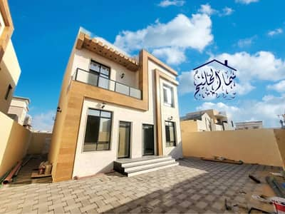 3 Bedroom Villa for Sale in Al Zahia, Ajman - For sale a new villa, the first inhabitant, without down payment, in Ajman, Al Zahia, on an asphalt street, large area, super deluxe finishing, central air conditioning