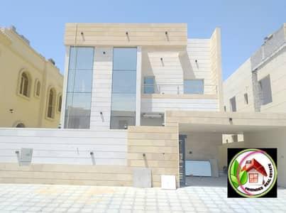 فیلا 5 غرف نوم للبيع في الياسمين، عجمان - فيلا تصميم حديث على شارع جار بدون دفعه مقدمه تشطيب شخصي تملك حر لجميع الجنسيات