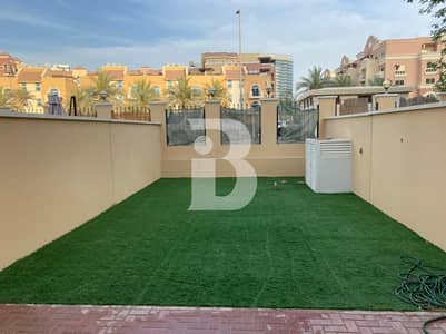 2 Bedroom Townhouse for Rent in Jumeirah Village Circle (JVC), Dubai - FURNISHED TOWNHOUSE | 12 CHEQUES | HUGE GARDEN