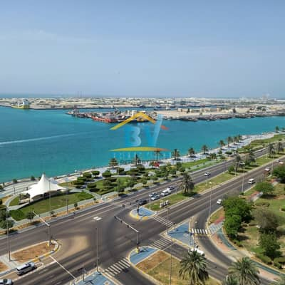 2 Bedroom Flat for Rent in Corniche Road, Abu Dhabi - Luxury Apartment 2bhk Sea view With Balcony Maid And Facilities