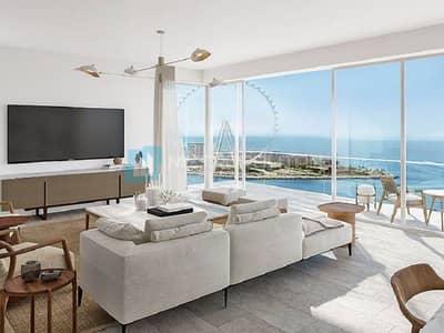 فلیٹ 3 غرف نوم للبيع في جميرا بيتش ريزيدنس، دبي - Has a View of Dubai Eye and Sea  view | Spacious