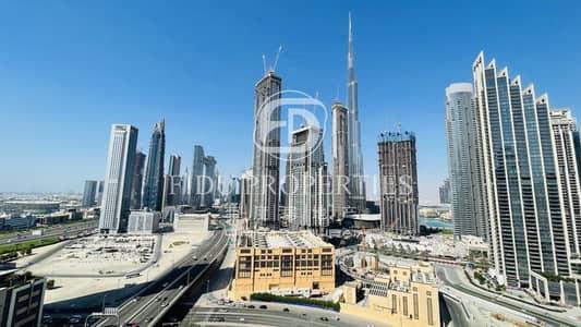 فلیٹ 1 غرفة نوم للبيع في الخليج التجاري، دبي - Burj Khalifa View | Fully Furnished | Balcony