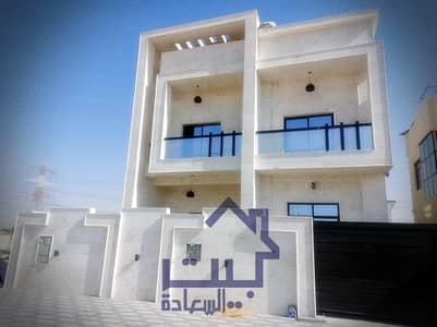 5 Bedroom Villa for Sale in Al Yasmeen, Ajman - Villa for sale in the emirate of Ajman, Jasmine area, villa with stone face finishing, super deluxe, modern design, villa without down payment, on a street directly