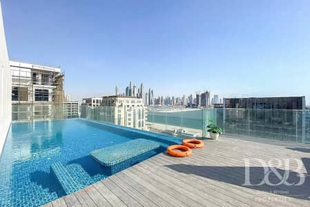 3 Bedroom Apartment for Rent in Palm Jumeirah, Dubai - Two BR Plus Study | Golden Mile And Burj View