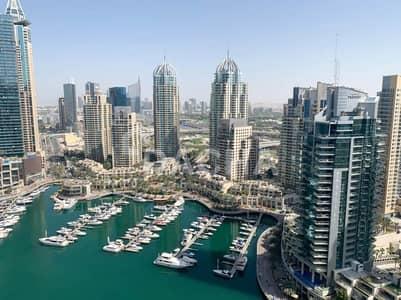 شقة 3 غرف نوم للايجار في دبي مارينا، دبي - High floor / Marina view / Luxury 3 Bed
