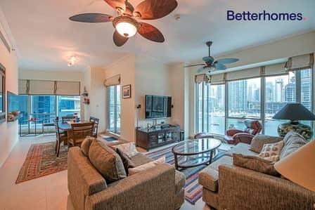 شقة 2 غرفة نوم للايجار في دبي مارينا، دبي - Full Marina View| Low Floor| Fully Furnished| Cozy