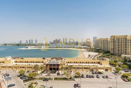 فلیٹ 2 غرفة نوم للايجار في نخلة جميرا، دبي - Sea View 2BR+Study Tiara Sapphire  On Middle Floor