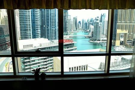 شقة 1 غرفة نوم للبيع في دبي مارينا، دبي - Vacant | Furnished | Full Marina view | Mid Floor