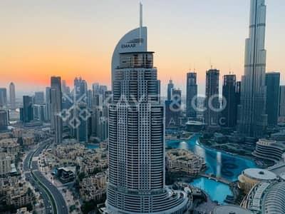 شقة 2 غرفة نوم للبيع في وسط مدينة دبي، دبي - Corner unit 08 | Burj & Fountain View | High Floor