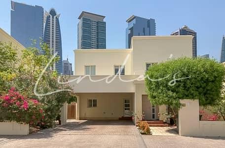 فیلا 4 غرف نوم للايجار في السهول، دبي - Landscaped Garden Type 2 Single Row Available July