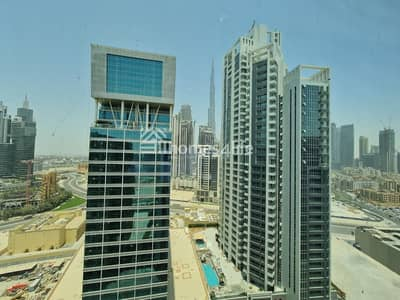 1 Bedroom Apartment for Rent in Business Bay, Dubai - Furnished 1 Bed- Burj  Khaifa facing Ready to move 60k