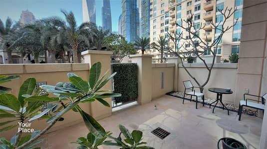 شقة 1 غرفة نوم للايجار في دبي مارينا، دبي - Garden Unit - Plus Study - Chiller Free