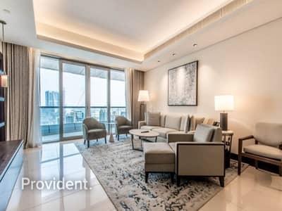 فلیٹ 1 غرفة نوم للايجار في وسط مدينة دبي، دبي - Middle Unit   Mid Floor   Fully Furnished