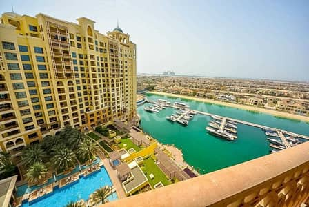 شقة 2 غرفة نوم للايجار في نخلة جميرا، دبي - Bright / Sea View / High floor