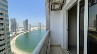 Parking free month free sea view 1 bhk 30000 near corniche
