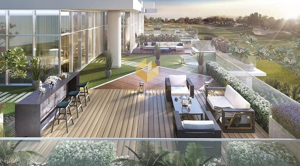 All season used terrace apartment with golf view