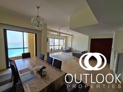 فلیٹ 3 غرف نوم للبيع في جميرا بيتش ريزيدنس، دبي - High Floor| High Quality| Fully Sea View