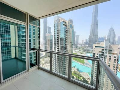 2 Bedroom Flat for Rent in Downtown Dubai, Dubai - Burj and Fountain View / High Floor / Chiller Free