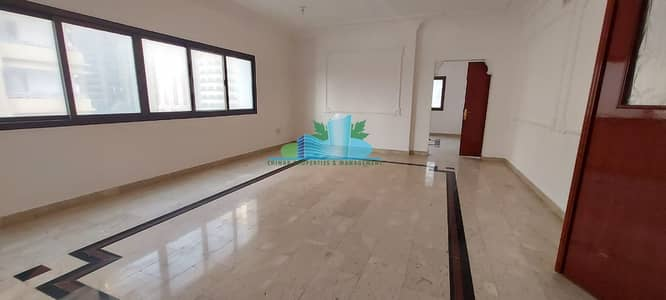 4 Bedroom Apartment for Rent in Airport Street, Abu Dhabi - EXTRA LARGE 4 BHK  2 MASTERS  2 BALCONIES   MIAD ROOM  Built in Cabinet   4 Chqs
