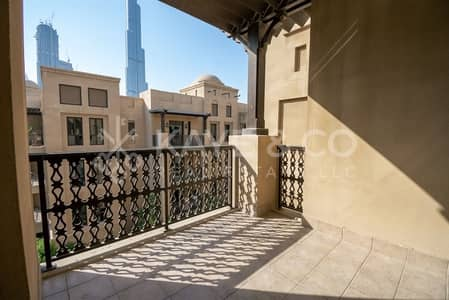 1 Bedroom Apartment for Rent in Old Town, Dubai - Burj and Commmunity View   Big Balcony   Unfurnished