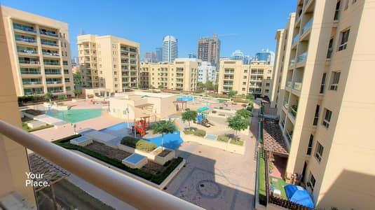 فلیٹ 1 غرفة نوم للايجار في الروضة، دبي - Best Pool View - Unfurnished - Ready to Move In