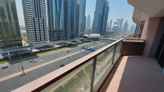 3 Bedroom Apartment for Rent in Sheikh Zayed Road, Dubai - 2200 Sq. Ft | Chiller Free | High Floor | SZR View | 2 Balconies | Maids Room