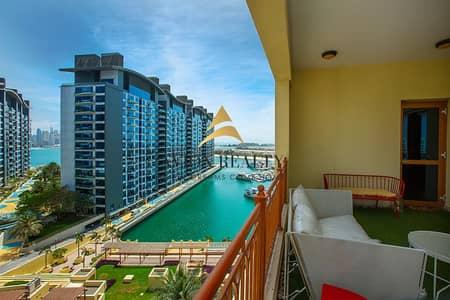 شقة 2 غرفة نوم للايجار في نخلة جميرا، دبي - Fantastic Marina View I Furnished 2 Bedroom