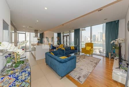 شقة 3 غرف نوم للايجار في جزيرة بلوواترز، دبي - Fully Furnished high end | High Floor | Sea View