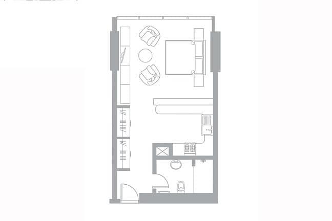 13 Large Studio | High Floor | Rented Sept 21