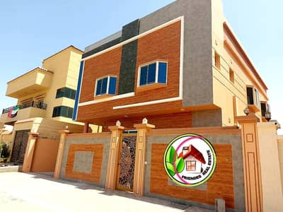 5 Bedroom Villa for Sale in Al Helio, Ajman - European villa for sale at an attractive price without a down payment and bank financing The best real estate agents owns a lifetime villa at a snapshot price and all facilities Modern villa freehold without first payment at a great price