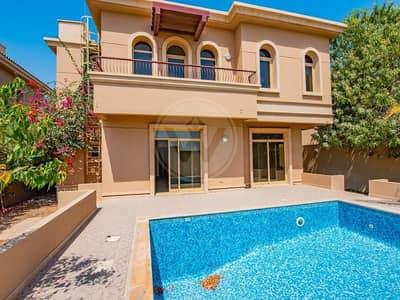 4 Bedroom Villa for Sale in Al Raha Golf Gardens, Abu Dhabi - Single Row Gardenia Type With Private Pool