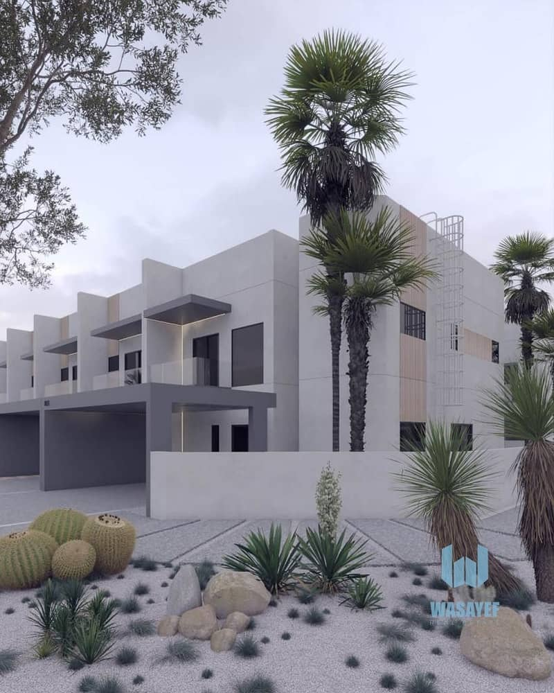 2 amazing town house 1750sq. ft hand over march 2022 in best location in dubai aLmydan with 2 years post hand over lets mee