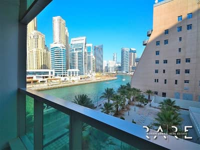 1 Bedroom Apartment for Rent in Dubai Marina, Dubai - 1 Bedroom with Beautiful Creek View from the Balcony