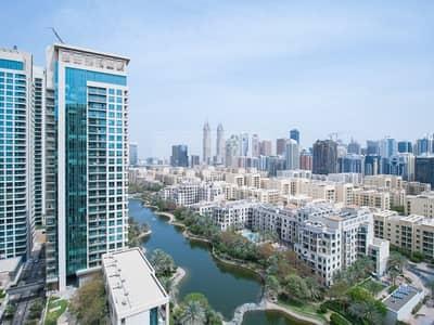 فلیٹ 1 غرفة نوم للبيع في ذا فيوز، دبي - Canal Views | Unfurnished 1 Bedroom | High Floor