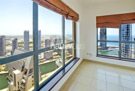 2 Bedroom Apartment for Sale in Jumeirah Beach Residence (JBR), Dubai - Breathtaking Marina + Sea views | Unfurnished
