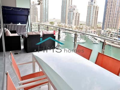 1 Bedroom Flat for Rent in Dubai Marina, Dubai - 1BR Funished Panoramic Marina View
