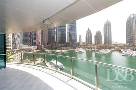 2 Bedroom Apartment for Rent in Dubai Marina, Dubai - Marina View | Chiller Free | Big Balcony