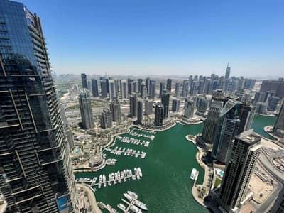 "3 Bedroom Apartment for Rent in Dubai Marina, Dubai - ""Fendi Furnished   Full Marina& Sea view   High floor"""