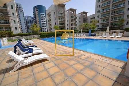 2 Bedroom Apartment for Sale in The Greens, Dubai - Ground Floor 05 Series with Courtyard - 2BR  Converted Study to Third Bedroom at The Greens